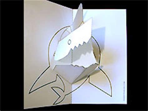 robert sabuda card templates paper sculpture and craft pop up shark