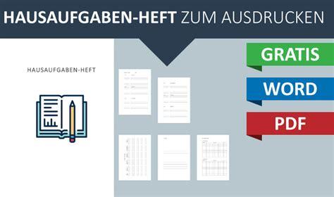 Word Vorlage Heft A5 Kostenlos Sch 246 Nes Hausaufgaben Heft Zum Ausdrucken Convictorius