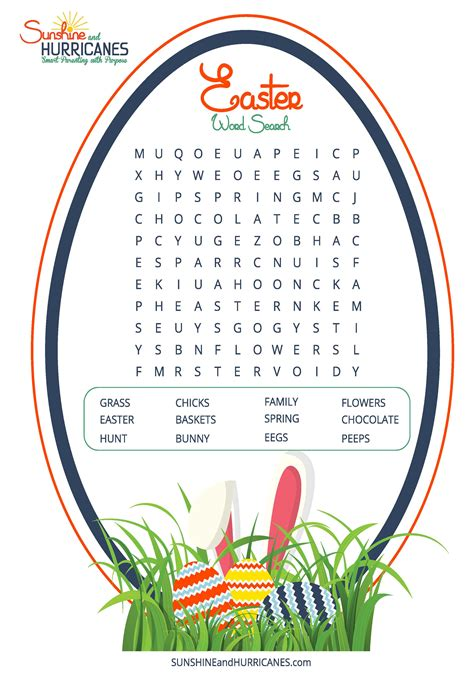 word for easter word search