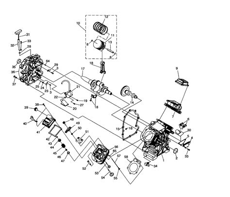engine 1 diagram parts list for model 0062410 generac