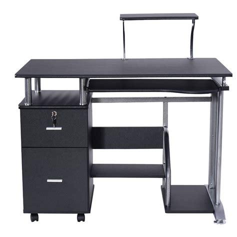computer desk with printer shelf black computer desk with printer shelf desks office