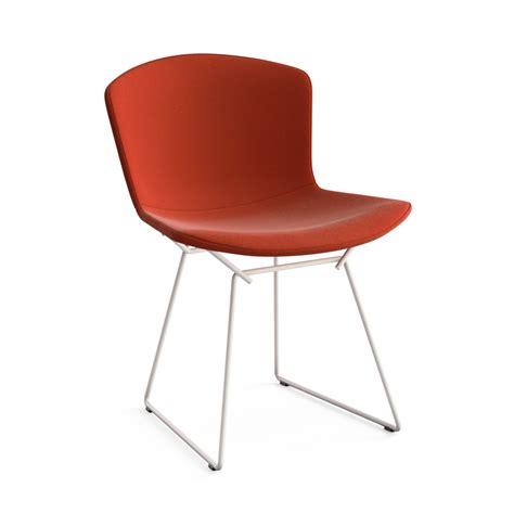 chaise bertoia blanche knoll chaise enti 232 rement tapiss 233 e bertoia structure