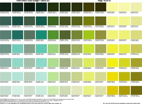 pantone green pantone cheat sheet 9 green lime chartreuse