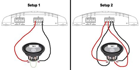 wiring diagram for dual 4 ohm subwoofer image gallery subwoofer wiring
