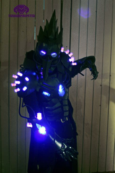 Light Up Costume by The Black Plague Futuristic Light Up Costume By