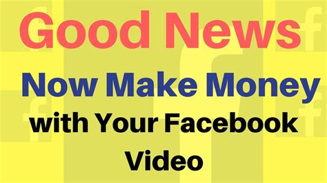 Make Money Online Facebook - how to make money online by monitizing facebook video