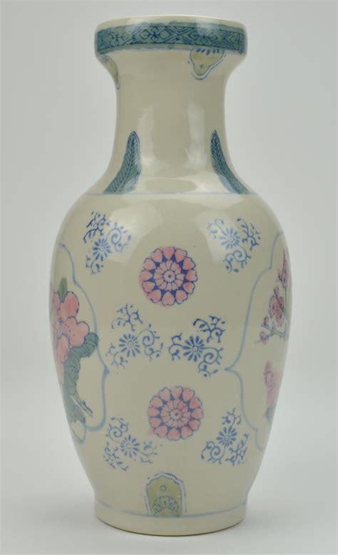 Decorative Pottery Vases by Decorative Pottery Vase Flowers Birds Design 12