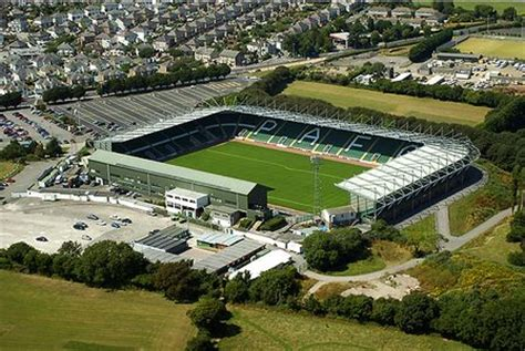 plymouth cgrounds home park aerial plymouth argyle fc football