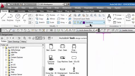 design center window autocad autocad add blocks using the design center 39 youtube