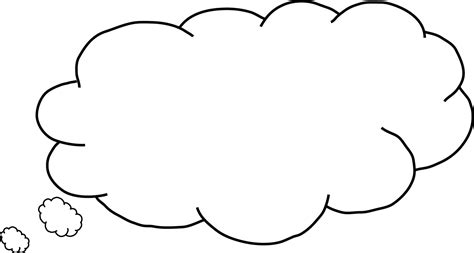 thought template thinking cloud png www pixshark images galleries