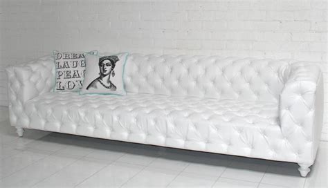 White Faux Leather Sofa by Www Roomservicestore Trousdale Sofa White Faux Leather
