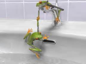 bathroom bathtub faucet frog frogs green water