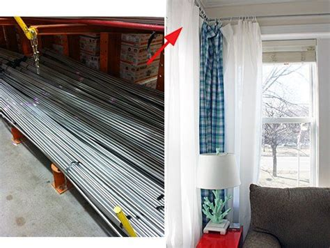 Curtain Rods For Apartments diy decor project how to make conduit pipe curtain rods