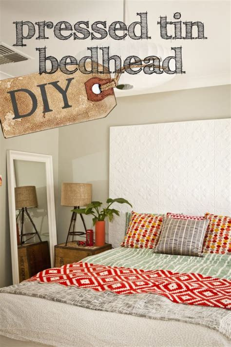 bed nerd diy how to pressed tin bedhead and win a forty winks