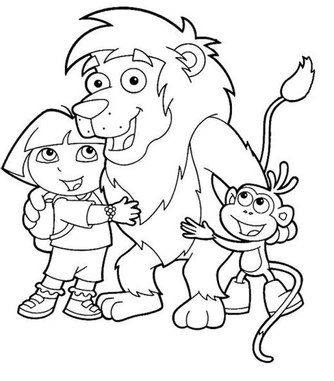 Dora The Explorer Coloring Pages Bestofcoloring Com Coloring Pages The Explorer