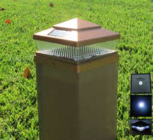 fence post solar light caps 5x5 solar post cap deck fence led lights 5x5 6x6 copper black