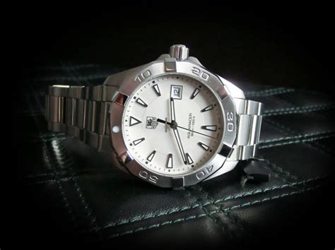 Tag Heuer Silver tag heuer aquaracer silver tone way1111 ba0928 review