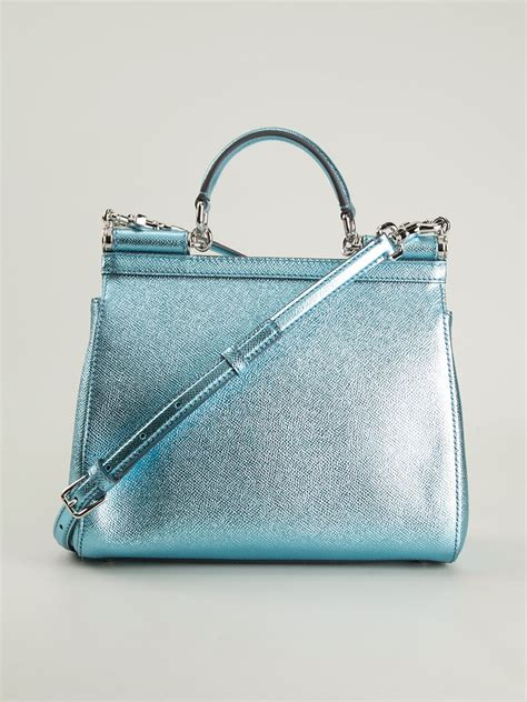 The Dolce Gabbana Small Carry by Lyst Dolce Gabbana Small Sicily Tote In Blue