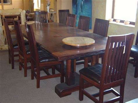 Handcrafted Table Ls - made dining table set 10 seat ironwood by