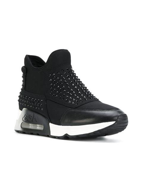 Studded Platform lyst ash studded platform sneakers in black
