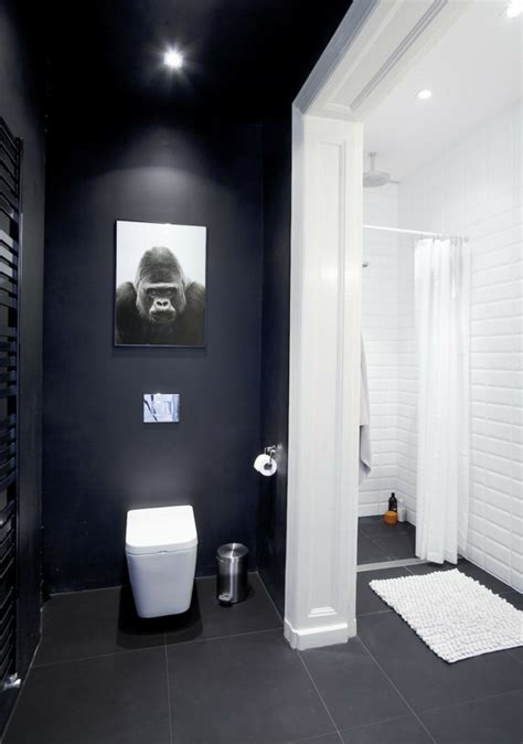 schwarzes badezimmer das ideen verziert wandfarbe schwarz 59 beispiele f 252 r gelungene innendesigns