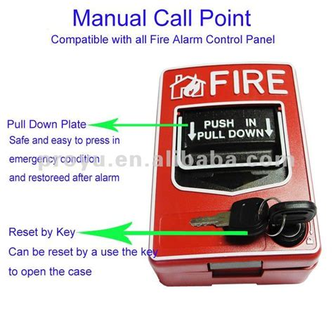 2 wire manual call point work with alarm system pull