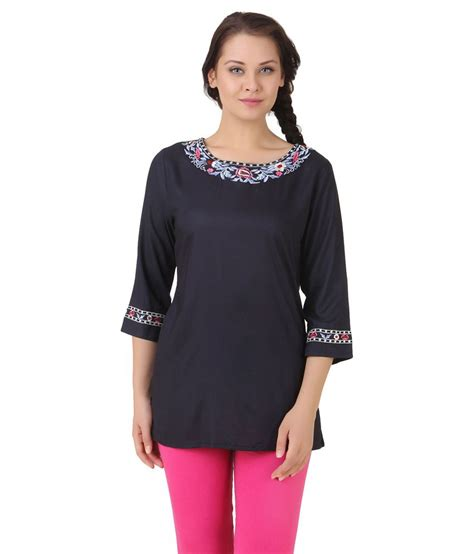 Lili Top Blouse buy lili blank blue viscose tops at best prices in india snapdeal