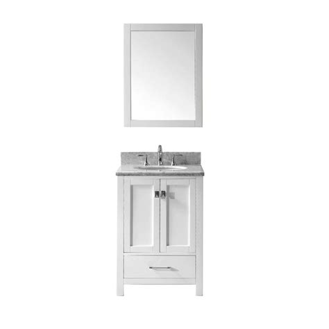 home depot vanity mirror bathroom virtu usa caroline avenue 24 in w x 36 in h vanity with