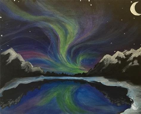 paint with a twist traverse city borealis wednesday january 6 2016 painting