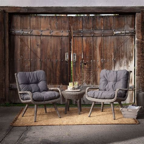 weather resistant wicker resin patio furniture set with 2