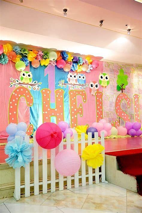 owl theme birthday stage decor ans styro standee