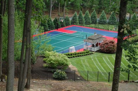 backyard multi sport outdoor court traditional