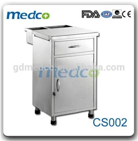used hospital bedside tables used stainless steel hospital bedside tables cs002