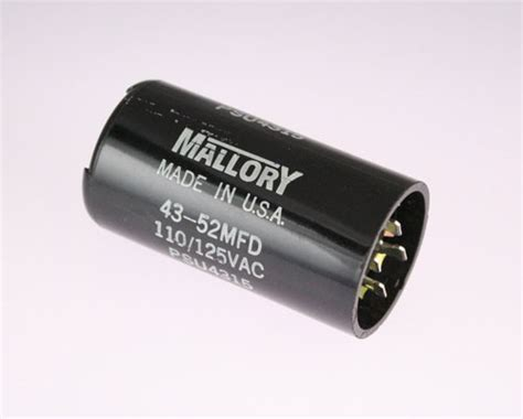 aerovox mallory capacitor lot of 3 mallory 43 52uf 110 125vac motor start capacitor psu4315 ebay