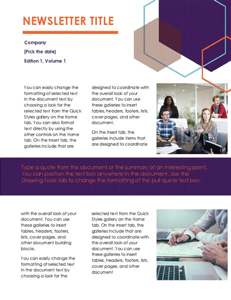Newsletter Executive Design 2 Pages Ceo Newsletter Template