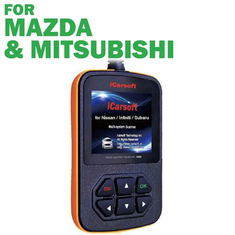 mazda mitsubishi icarsoft i909 obd2 diagnostic scan tool for mazda