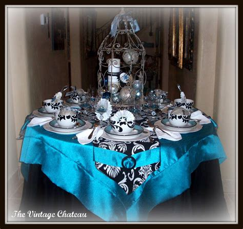 black blue and silver table settings the vintage chateau november 2011