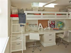 Double Loft Bed With Desk 8 Steps To A Paperless Home Office Hgtv