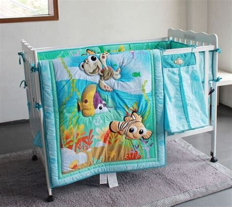 8 pieces crib baby bedding set finding nemo baby nursery