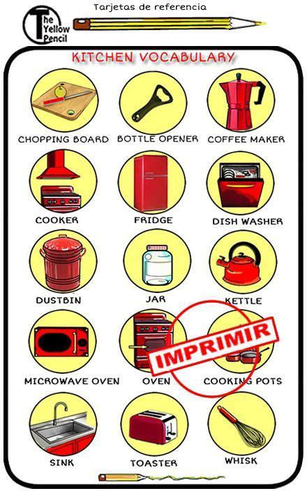 recortar imagenes en ingles la cocina en ingl 233 s cosas de la casa en ingl 233 s