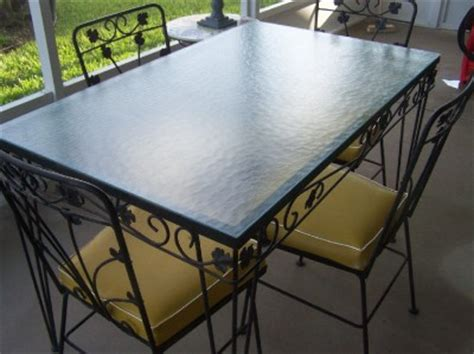 Wrought Iron Patio Table And 4 Chairs Vintage Wrought Iron Patio Table And 4 Chairs Glass Top Black Ebay