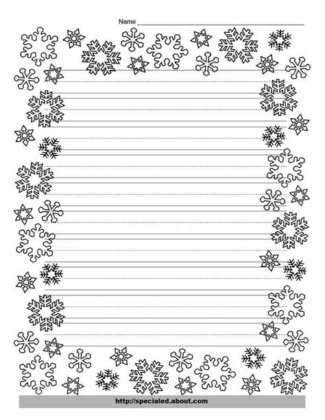 writing paper with decorative borders writing