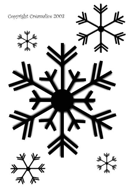Snowflake Pattern To Trace | snowflakes patterns christmas pinterest snowflake