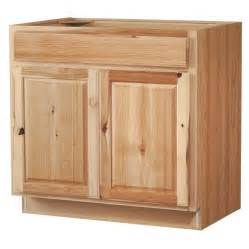Lowes Kitchen Sink Cabinet Shop Kitchen Classics 35 In H X 36 In W X 23 3 4 In D Denver Hickory Sink Base Cabinet At Lowes
