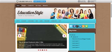 templates blogger school 20 education blogger templates free download