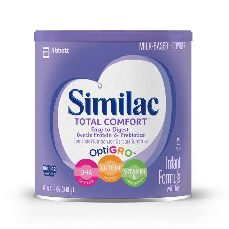 similac 1 total comfort similac total comfort infant formula with iron powder 12