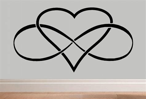 infinity heart infinity symbol wall decal by