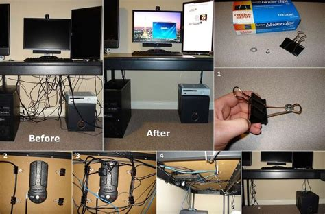 a minimalist desk that hides all your cords design milk diy easy cable organizer fabdiy