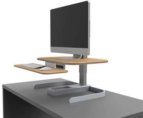 turn your desk into a standing desk nextdesk crossover turns your tabletop into a powered
