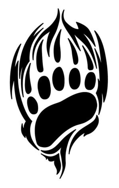 bear paw tattoo tribal clipart best
